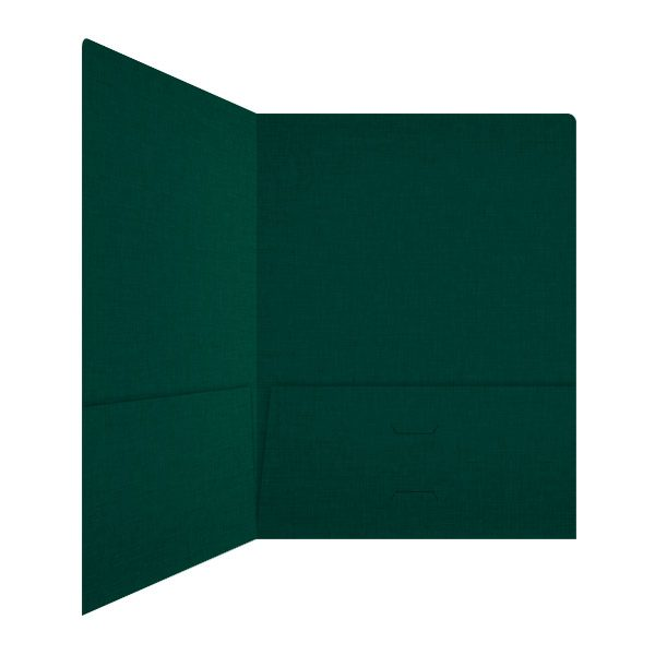 Wegner Pine Green 2-Pocket Folder (Inside Right View)
