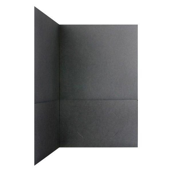 Willoughby Cove Plain Black Folder (Inside Pocket View)