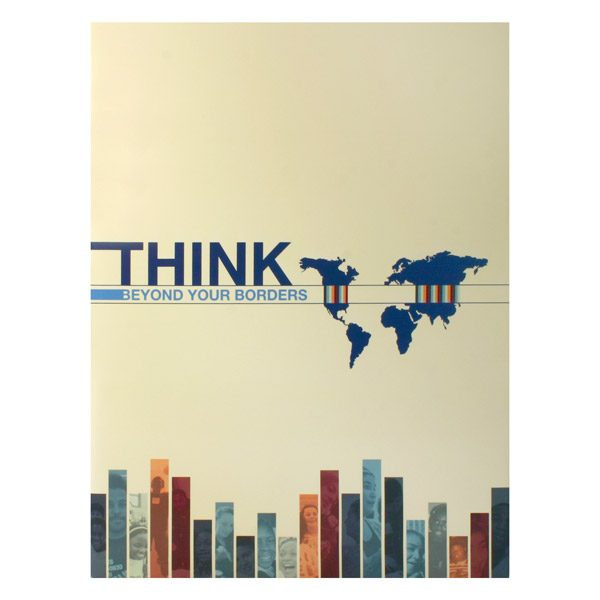 World Savvy Tri-Fold Paper Folder (Front View)