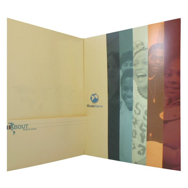 World Savvy Tri-Fold Pocket Folder (Inside Panel View)