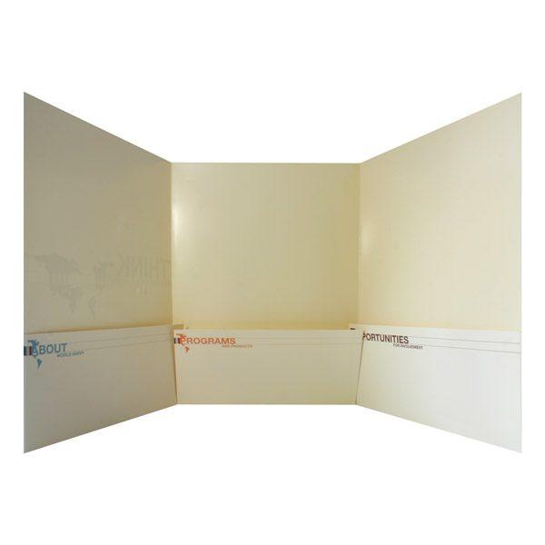 World Savvy Tri-Fold Presentation Folder (Inside View)