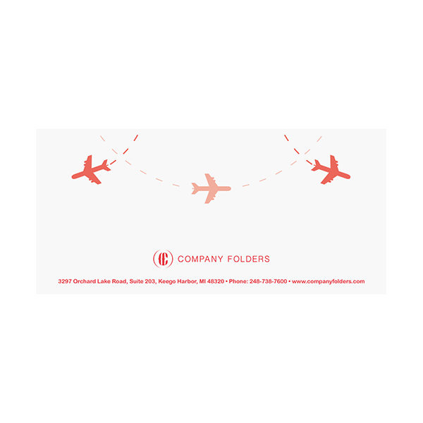 Airplane Travel Document Folder Template (Back View)