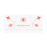 Airplane Travel Document Folder Template
