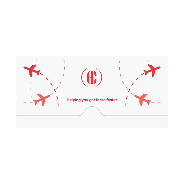 Airplane Travel Document Folder Template (Front View)