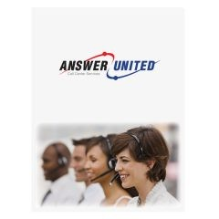 Answer United Call Center Presentation Folder (Front View)