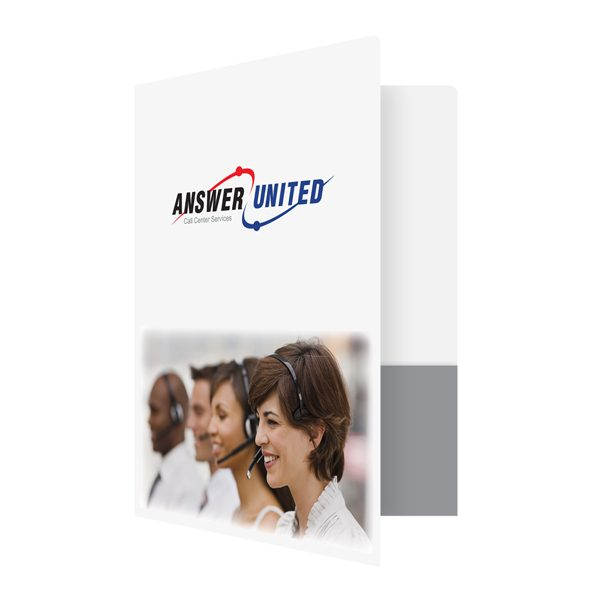 Answer United Telecommunications Presentation Folder (Front Open View)