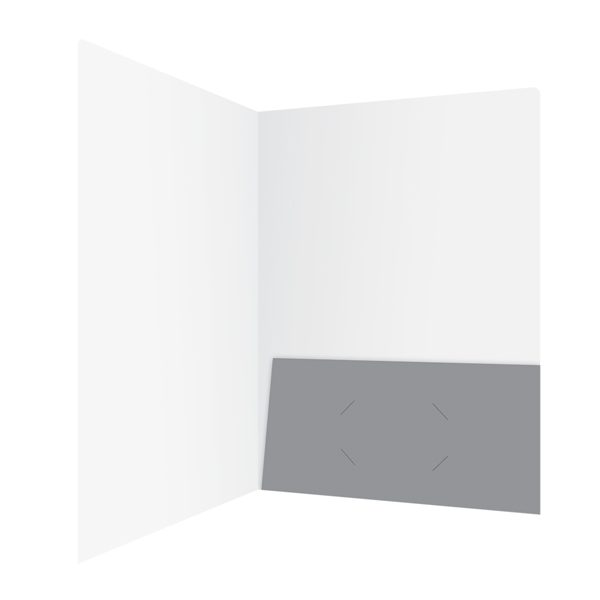 Answer United Gray 1-Pocket Folder (Inside Right View)