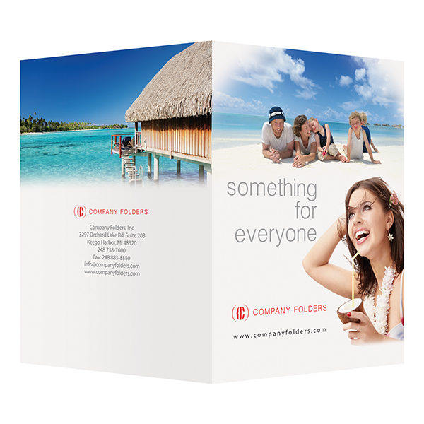 Beach Resort Travel Folder Template (Front and Back View)