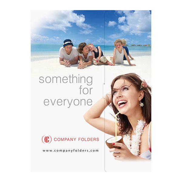Beach Resort Travel Folder Template (Front View)