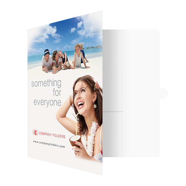 Beach Resort Travel Folder Template (Front Open View)