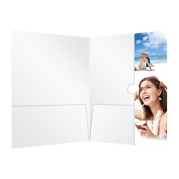 Beach Resort Travel Folder Template (Inside View)