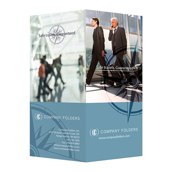 Business Travel Documents Folder Template (Front and Back View)