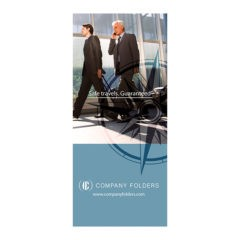 Business Travel Documents Folder Template (Front View)
