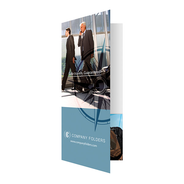 Business Travel Documents Folder Template (Front Open View)