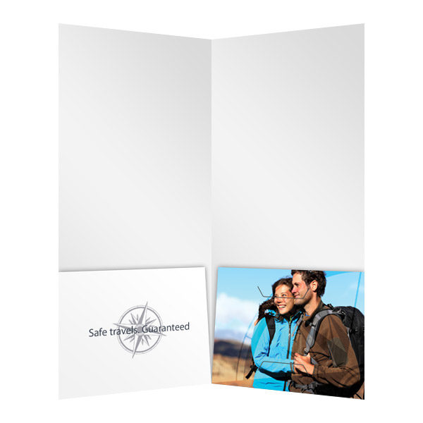 Business Travel Documents Folder Template (Inside View)