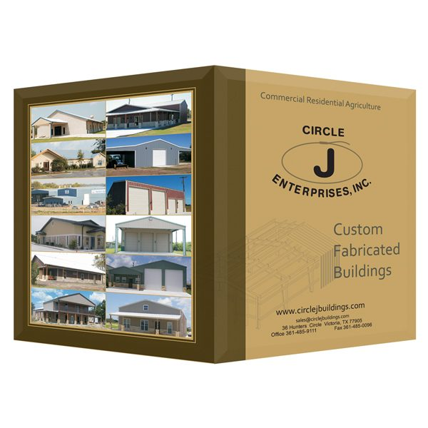 Circle J Enterprises Construction Presentation Folders (Front & Back Cover View)