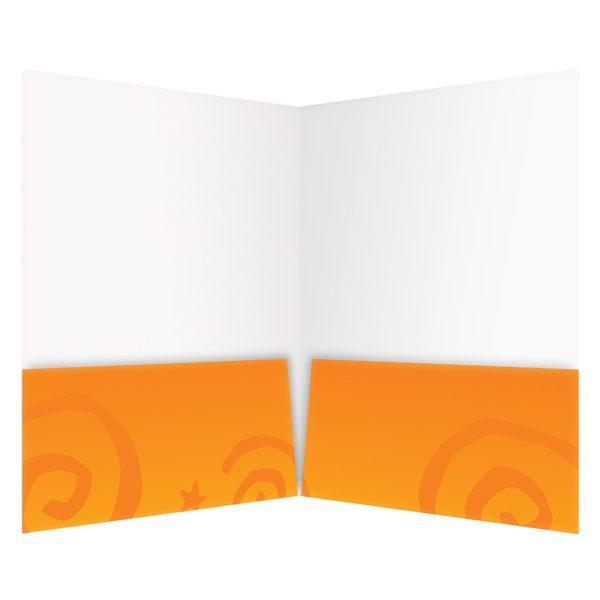 Orange Twin Pocket Folder (Front Open View)