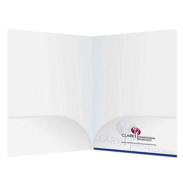 Clark Pharmacy 2-Pocket Folder (Inside View)