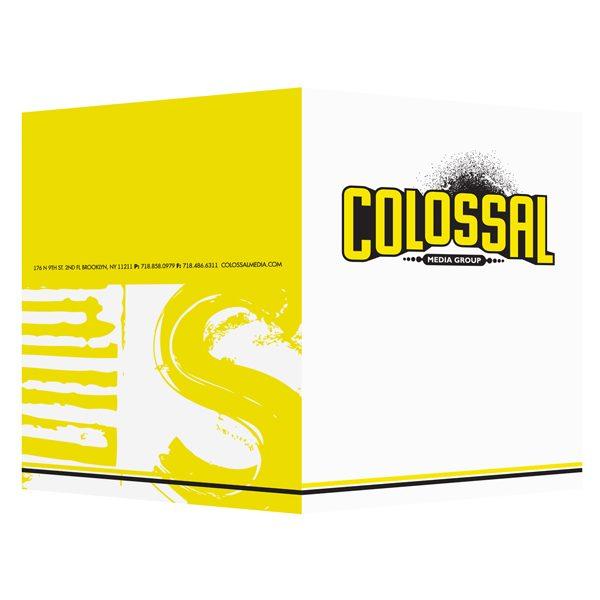 Colossal Media Art Project Presentation Folder (Front & Back View)