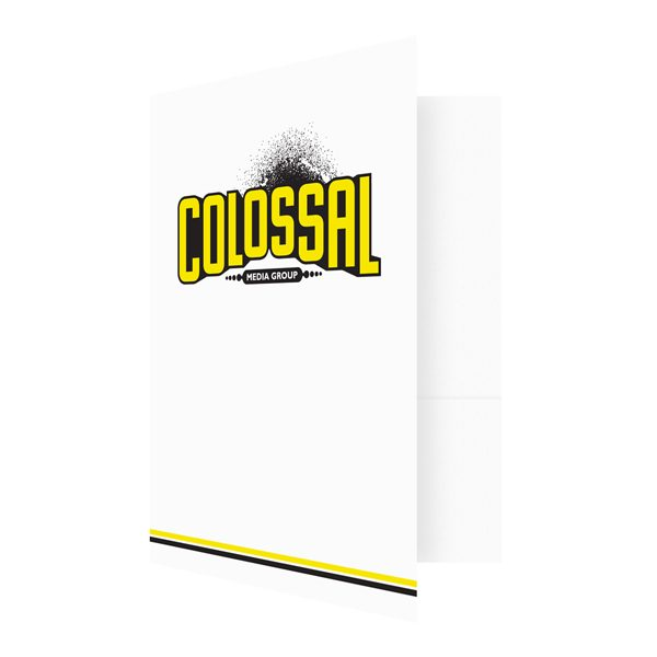 Artist Presentation Folders for Colossal Media Group (Front Open View)
