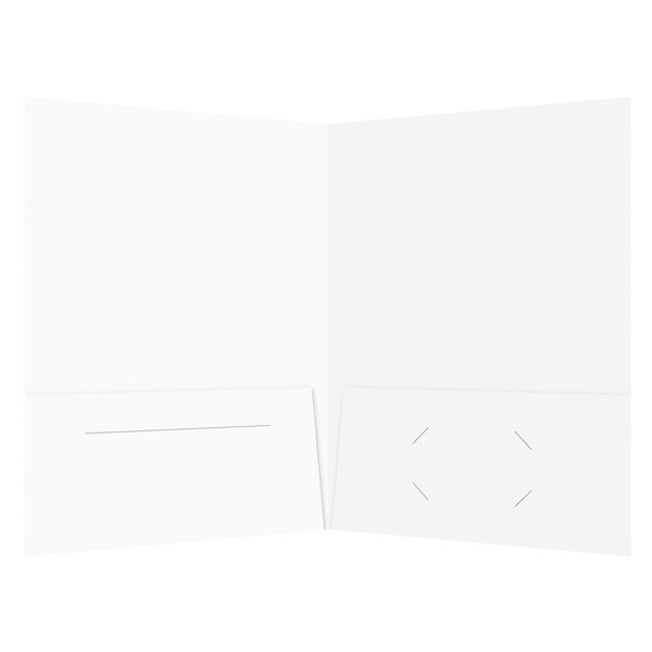 Colossal Media Group Folder with Business Card and Brochure Slits (Inside View)