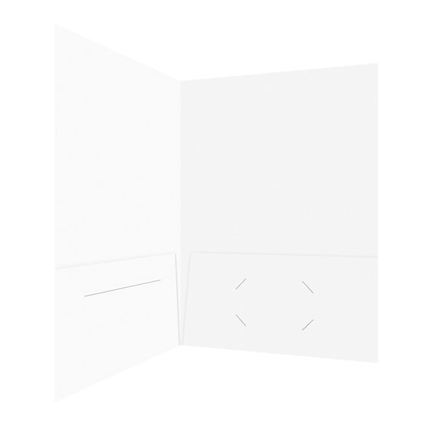 Colossal Media Group Blank Double Pocket Folder (Inside Open View)