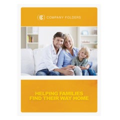 Family Photo Real Estate Folder Template (Front View)