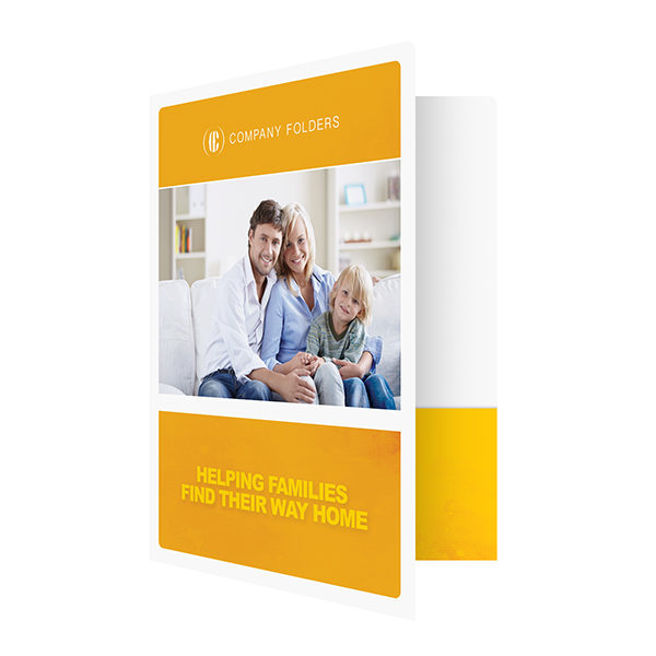 Family Photo Real Estate Folder Template (Front Open View)