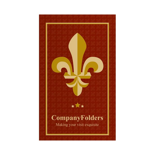 Fleur-de-lis Motel Key Card Folder Template (Front View)