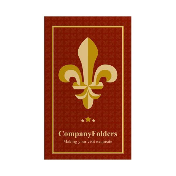 Fleur-de-lis Motel Key Card Folder Template (Front View)