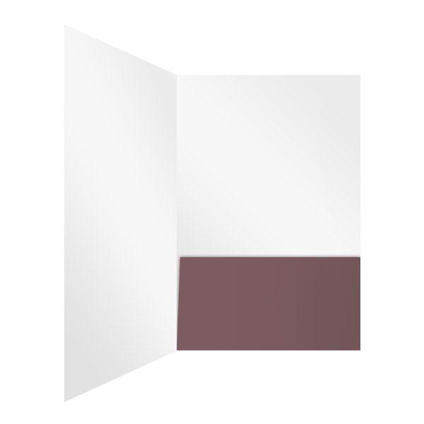 Inspirational Baptist Church White and Purple Presentation Folder (Inside Right View)