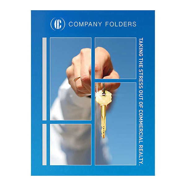 Key in Hand Commercial Real Estate Folder Template (Front View)