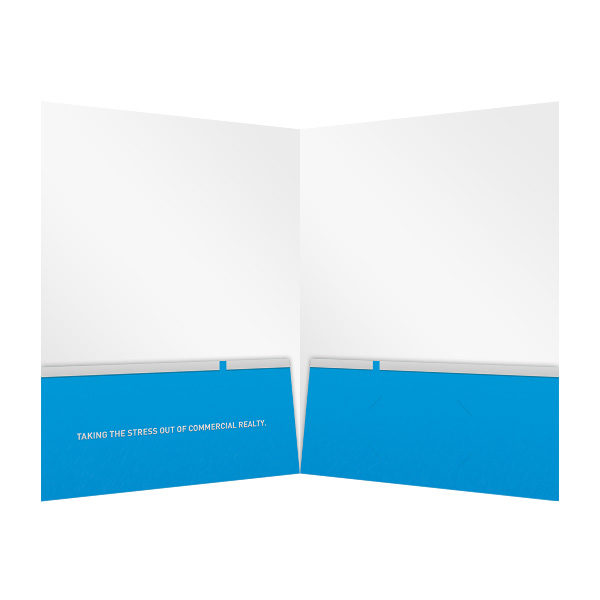 Key in Hand Commercial Real Estate Folder Template (Inside View)