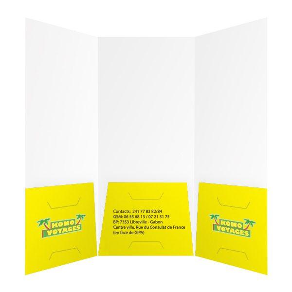 Komo Voyages Tri-Fold Travel Folder (Inside View)