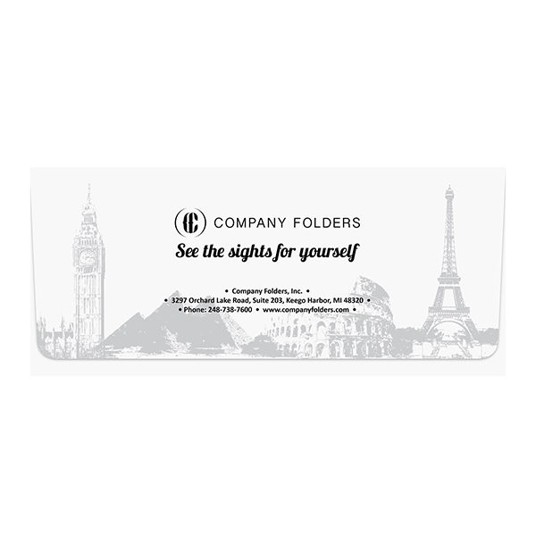Landmark Travel Agent Folder Template (Front View)