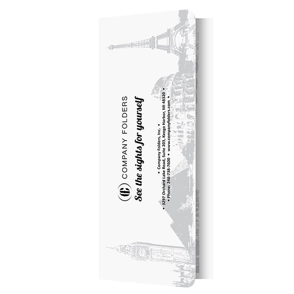 Landmark Travel Agent Folder Template (Front Vertical View)