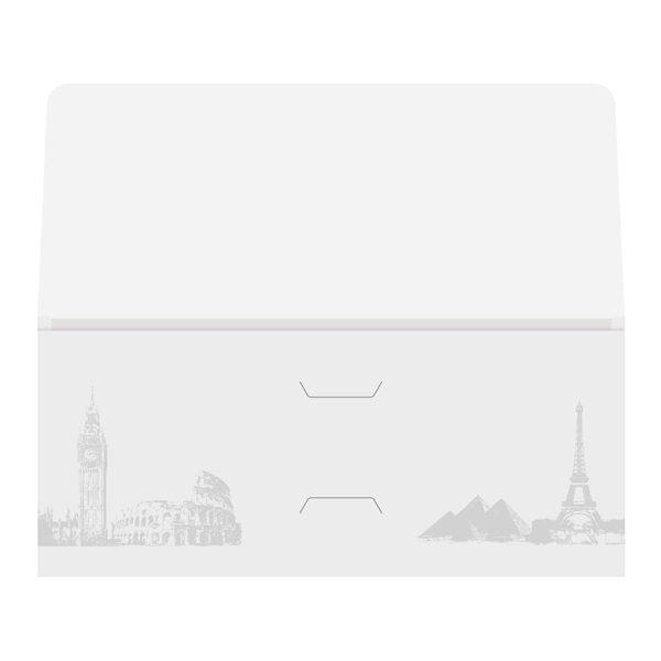 Landmark Travel Agent Folder Template (Front Open Flat View)