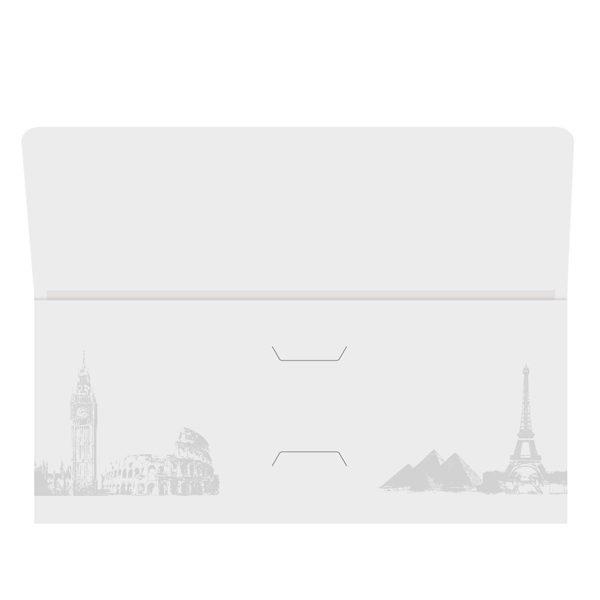 Landmark Travel Agent Folder Template (Front Open View)