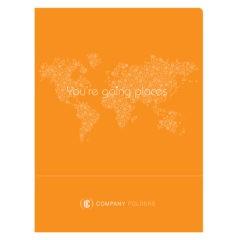 Orange Travel Agent Folder Template (Front View)