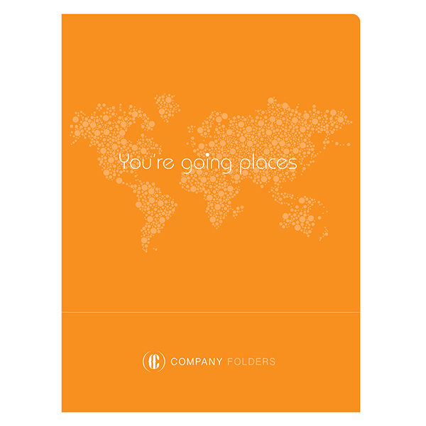 Orange Travel Agent Folder Template (Front View)