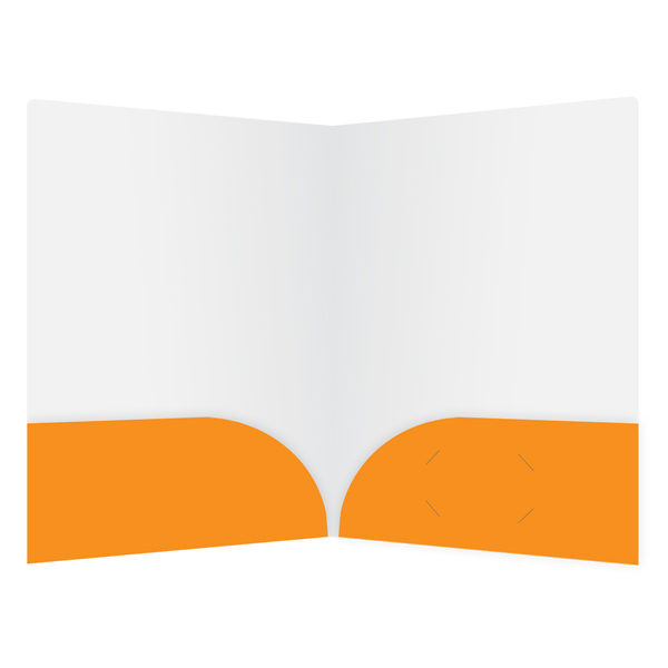Orange Travel Agent Folder Template (Inside View)