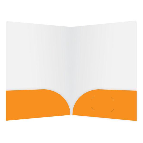 Orange Travel Agent Folder Template (Inside View)