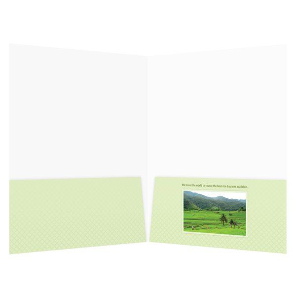 Otis McAllister Folder with Imprinted Pockets (Front Inside View)