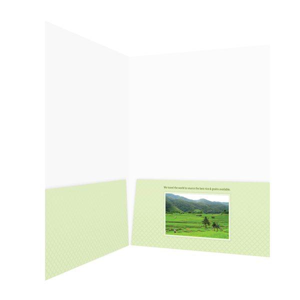 Otis McAllister Imprinted 2-Pocket Folder (Front Inside View)