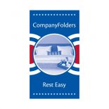 Patriotic Motel Key Card Folder Template