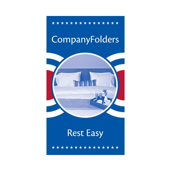 Patriotic Motel Key Card Folder Template (Front View)