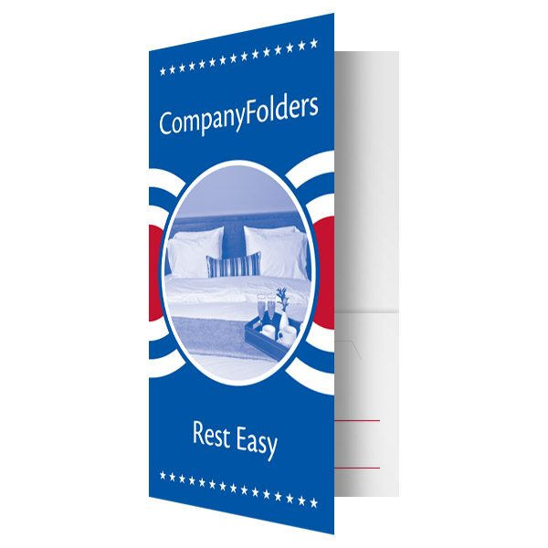 Patriotic Motel Key Card Folder Template (Front Open View)
