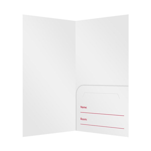 Patriotic Motel Key Card Folder Template (Inside View)