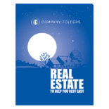 Peaceful Night Real Estate CD Folder and Business Card Template