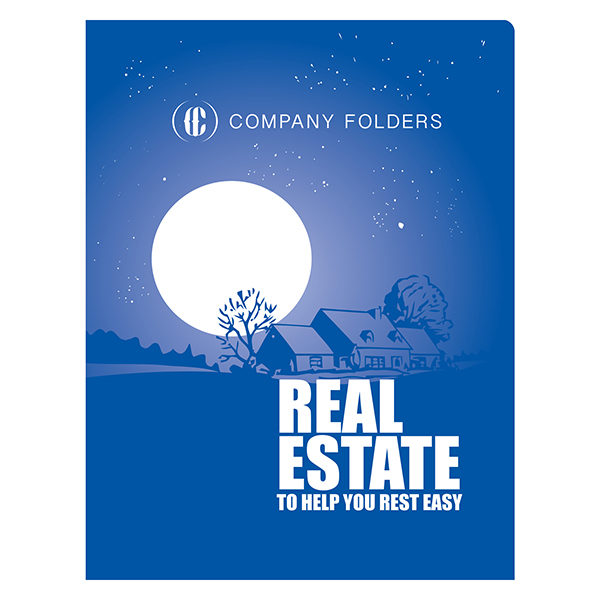 Peaceful Night Real Estate CD Folder Template (Front View)